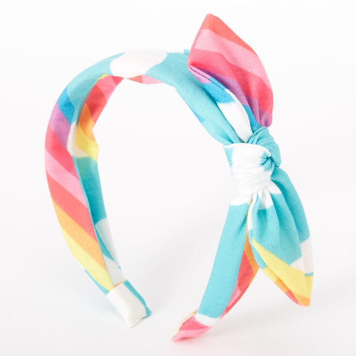 Rainbow Cloud Knotted Bow Headband,