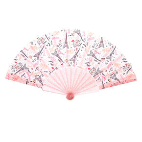 Paris Folding Fan - Pink,