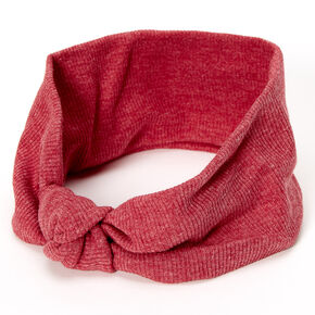 Ribbed Knotted Headwrap - Brick,