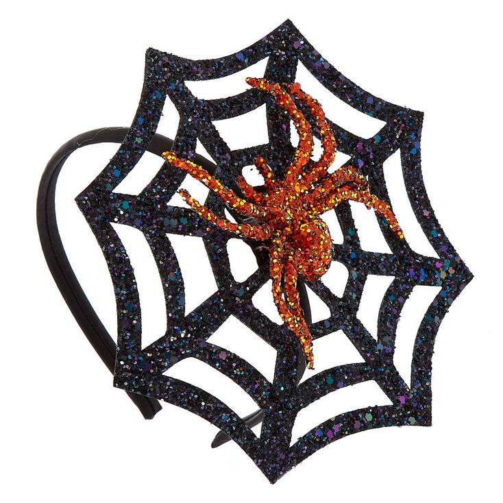 Spider Web Fascinator Headband - Black,