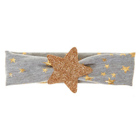 Claire's Club Stars Headwrap - Grey,