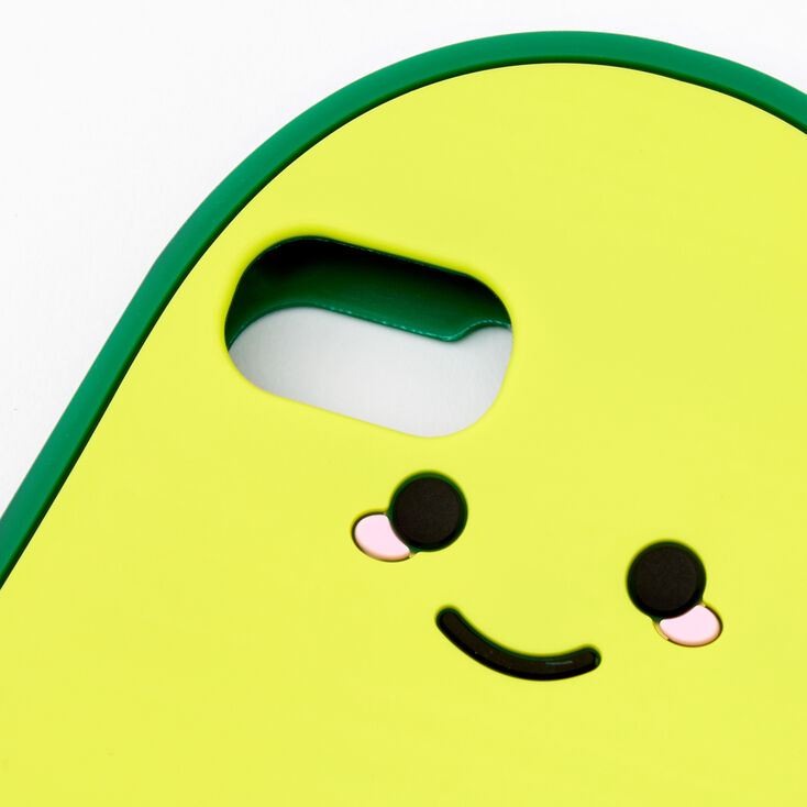 Smiling Avocado Silicone Phone Case - Fits iPhone 6/7/8/SE,
