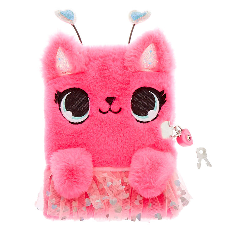 Rosie the Love Bug Plush Lock Diary - Pink,