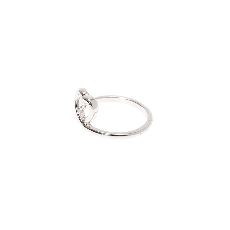 Silver Leaf Midi Ring,