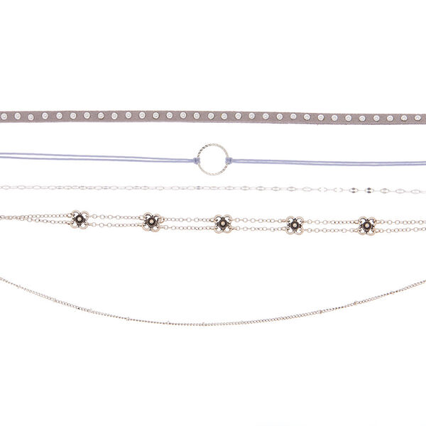 Claire's - brushed choker necklaces - 2