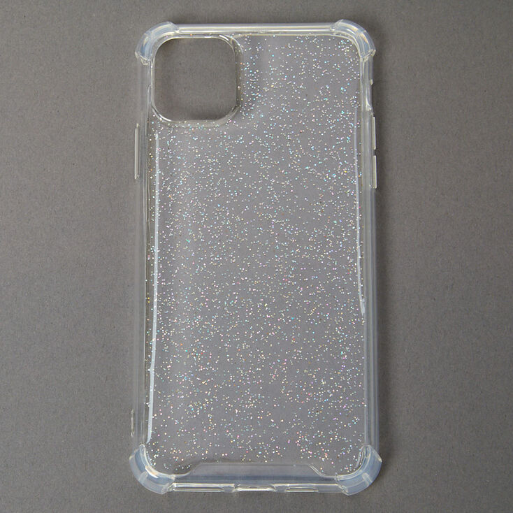 Clear Glitter Protective Phone Case - Fits iPhone 11,