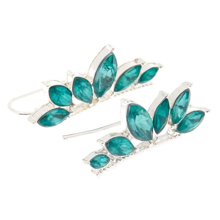 Emerald Stone Ear Crawler Earrings