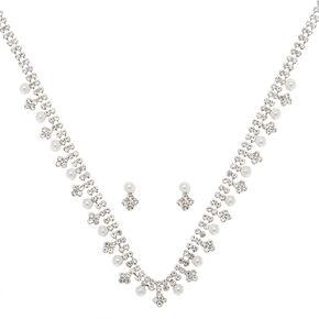 Silver Rhinestone & Pearl Jewellery Set - 2 Pack,