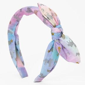 Celestial Unicorn Knotted Bow Headband,