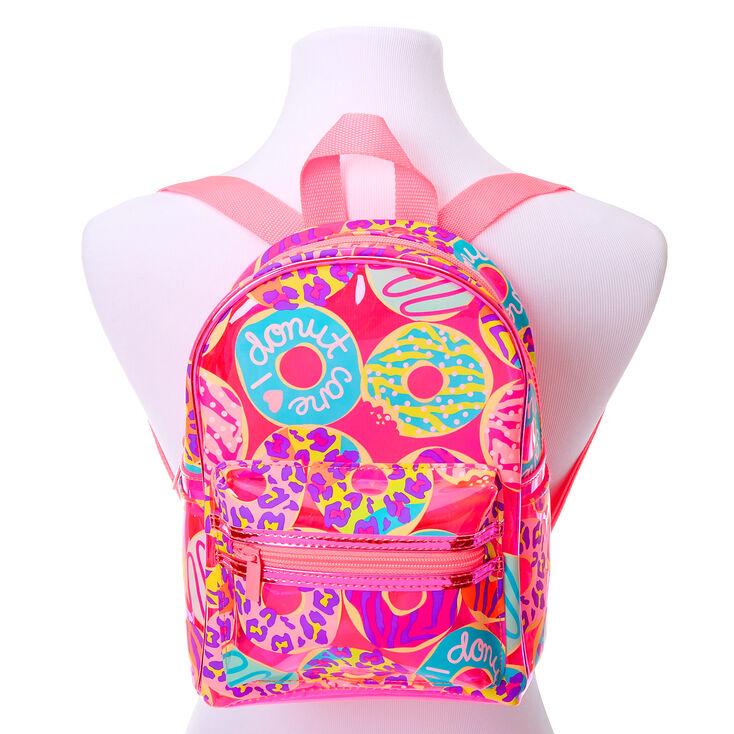 Petit sac à dos à imprimé donut et animal fluo - Rose,