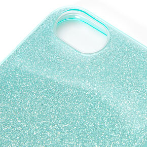 Teal Glitter Protective Phone Case - Fits iPhone 6/7/8/SE,