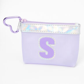 Purple Initial Coin Purse - S,