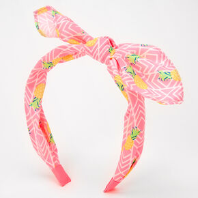Pineapple Print Knotted Bow Headband,