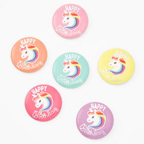 Claire's Club Happy Birthday Unicorn Buttons - 6 Pack,