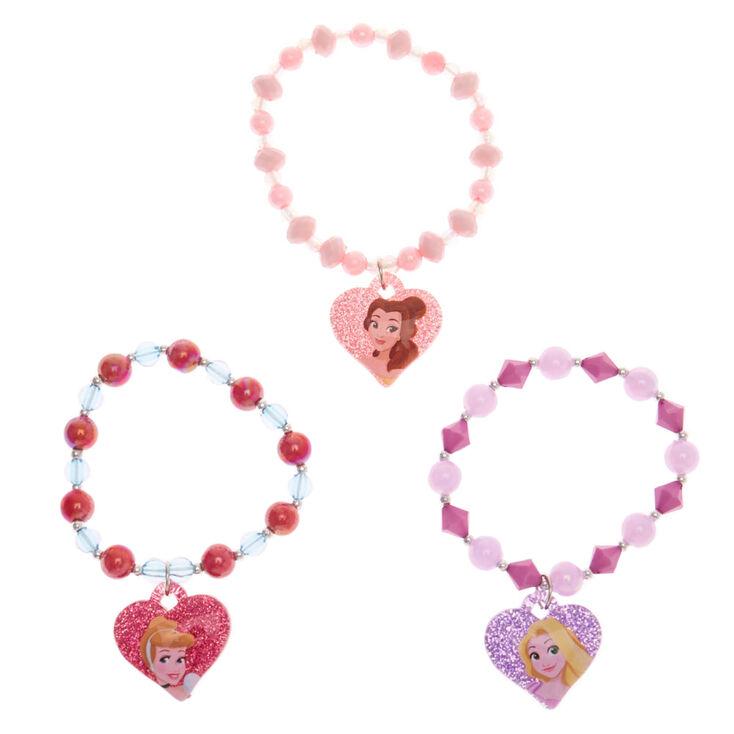 ©Disney Princess Charm Stretch Bracelets- Pink, 3 pack,