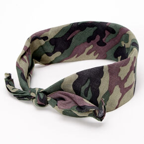 Bandeau bandana camouflage - Vert,