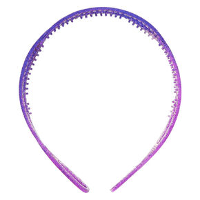 Ombre Glitter Twist Headband - Purple,