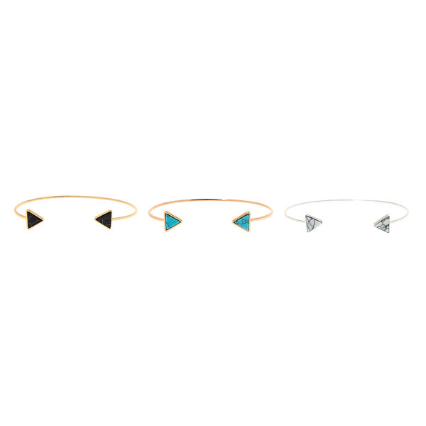 Claire's - marble triangle cuff bracelets - 2