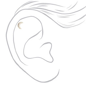 Silver 16G Celestial Cartilage Stud Earrings - 3 Pack,