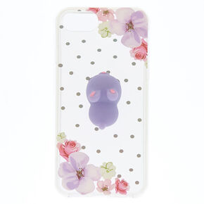 Floral Bunny Squishy Phone Case - Fits iPhone 6/7/8,