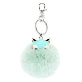 Trixie the Fox Pom Pom Keychain - Mint,