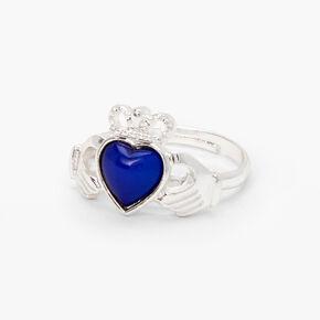 Silver Claddagh Mood Ring,