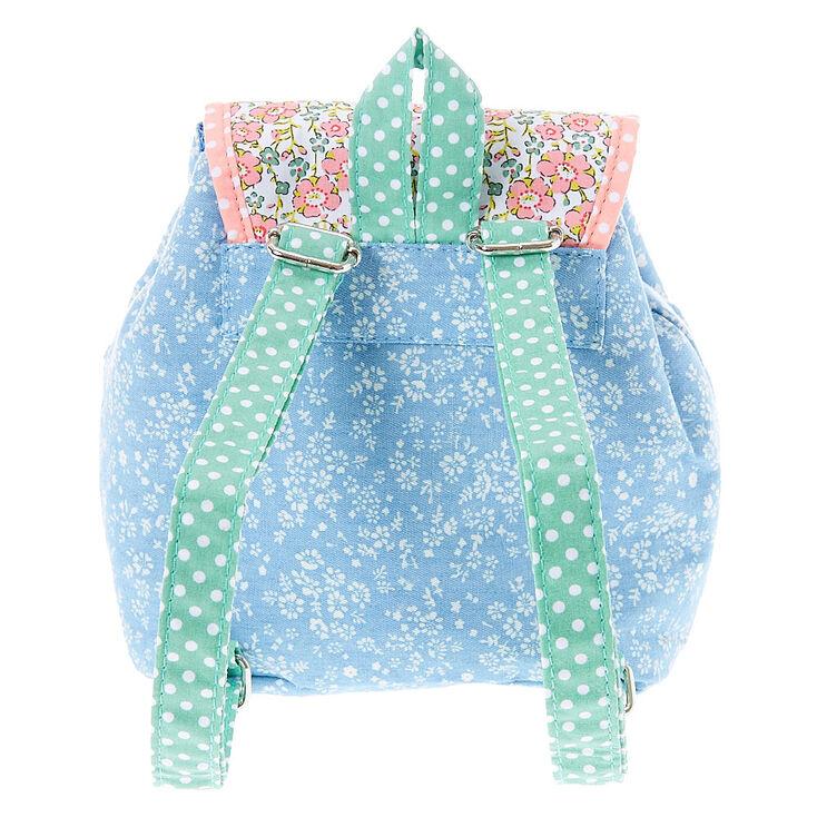 Mini sac à dos floral à pois pour enfants,