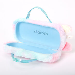 Claire's Club Rainbow Fur Unicorn Sunglasses Case,
