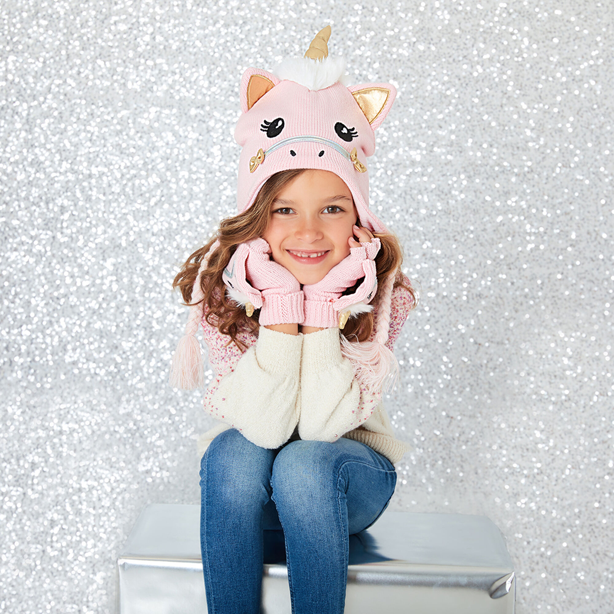 ... Claire  39 s Club Ariella the Unicorn Winter Hat ... a1098ae497d