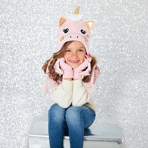 Claire s Club Ariella the Unicorn Winter Hat - Pink 5d04fb728f8