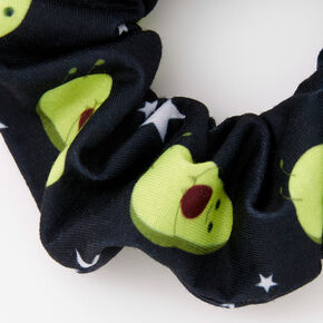 Avocado Print Hair Scrunchie - Black,