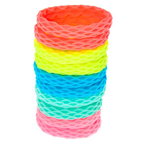 Claire's Club Neon Honeycomb Hair Bobbles - 10 Pack,