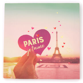 Paris Je T'aime Canvas Wall Art,
