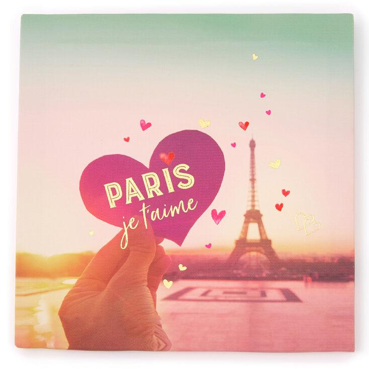 Paris Je T'aime Canvas Wall Art,