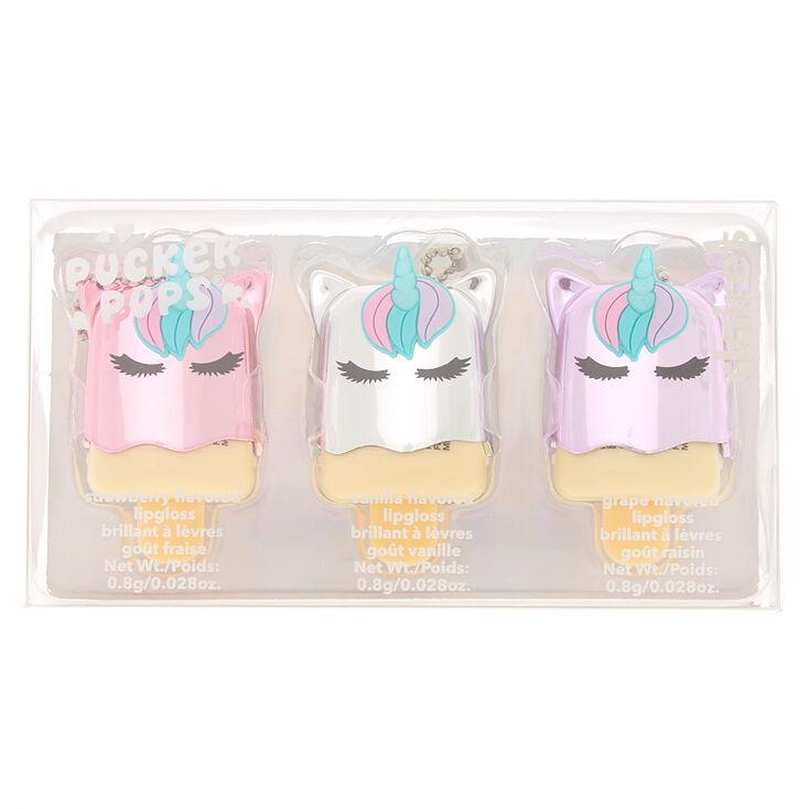 Pucker Pops Glam Unicorn Lip Gloss Set - 3 Pack,