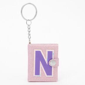 Initial Mini Diary Keychain - N,