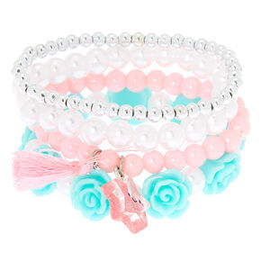 Claire's Club Pastel Stretch Bracelets - 4 Pack,