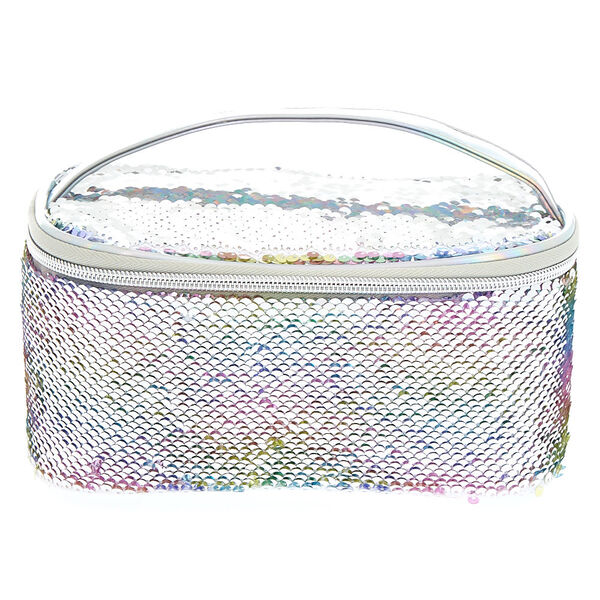 Claire's - reversible sequin pastel structured makeup bag - 2
