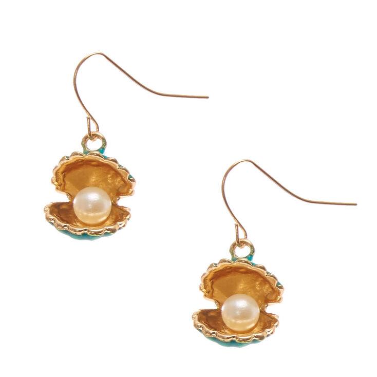 Pendantes coquillage et perles d'imitation sirène,