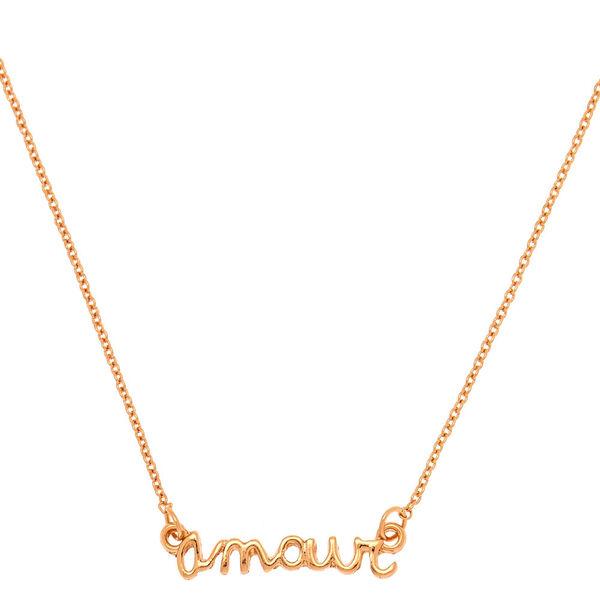 Claire's - rose amour pendant necklace - 1