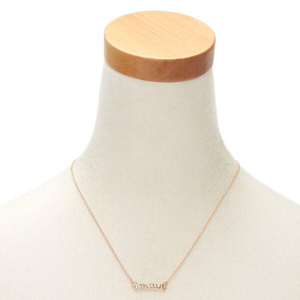 Claire's - rose amour pendant necklace - 2
