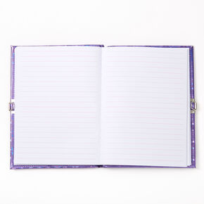 Love Heart Shaker Lock Diary - Purple,