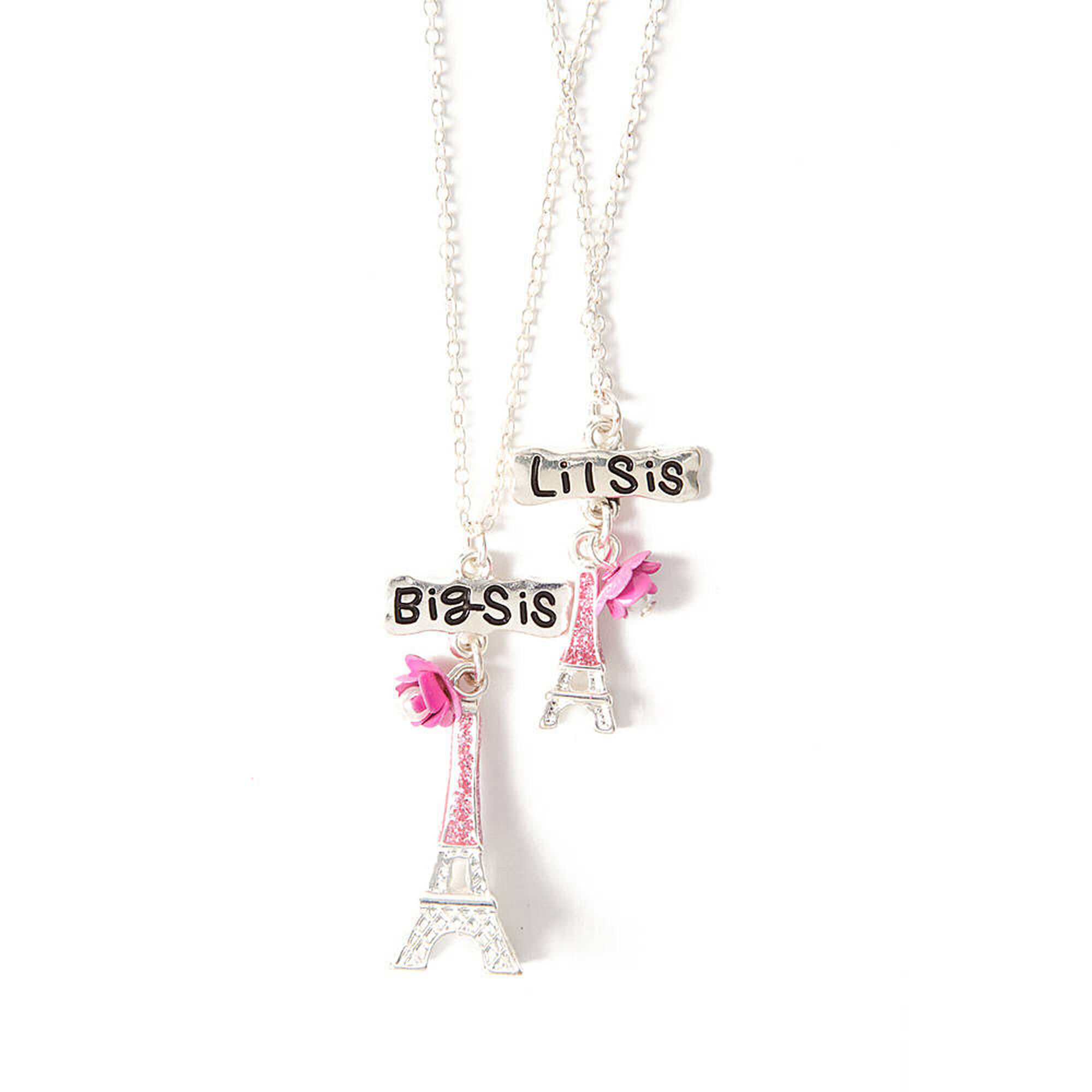 Big Sister Little Sister Eiffel Tower Pendant Necklaces