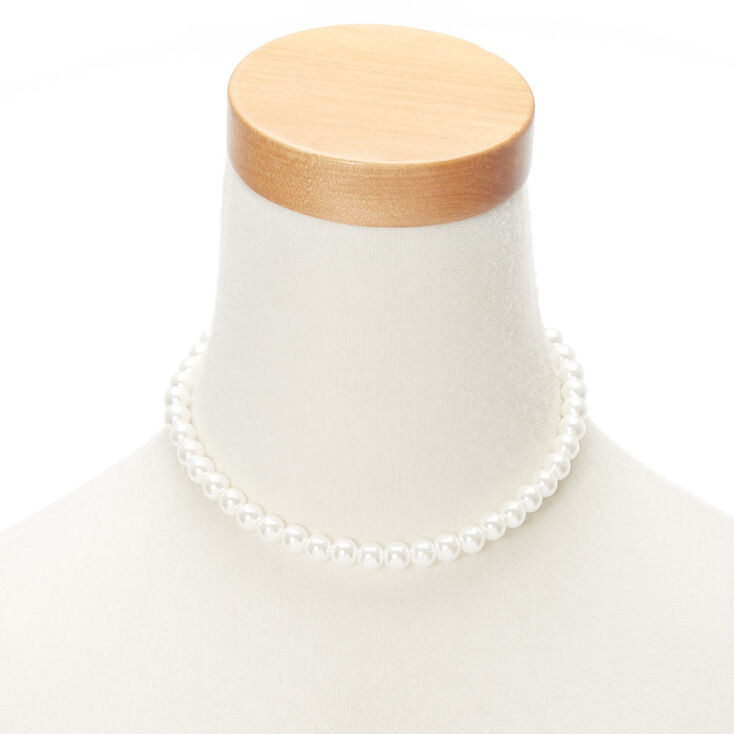 8MM Pearl Choker Necklace,