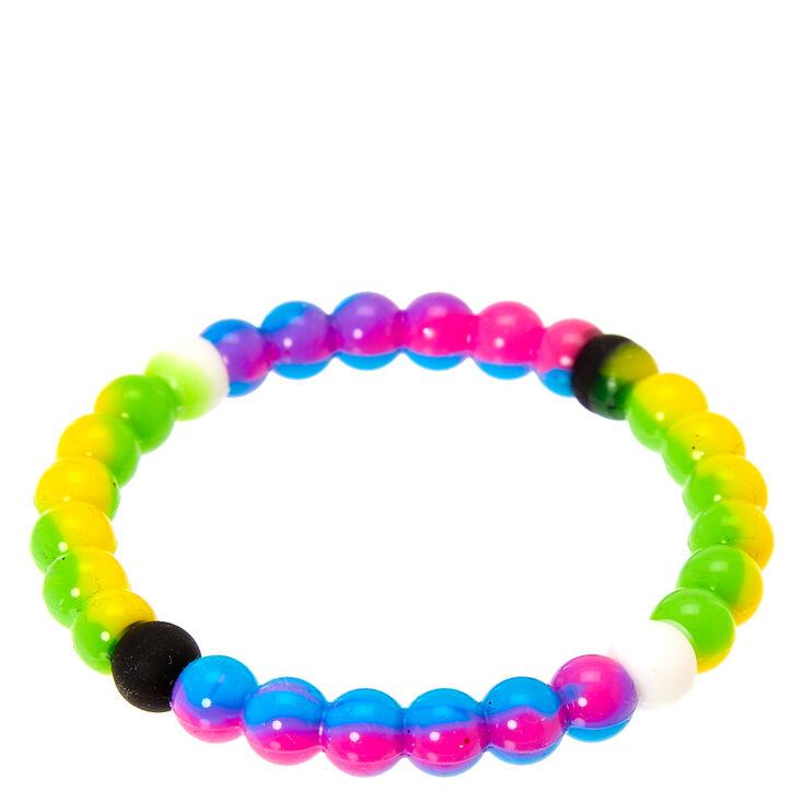 Rainbow Marble Fortune Stretch Bracelet,