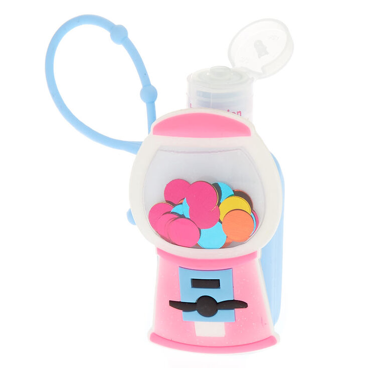 Gumball Machine Holder with Blueberry Scented Hand Lotion,
