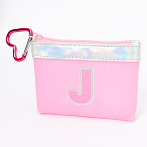 Pink Initial Coin Purse - J,