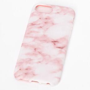 Coque de portable rose tendre effet marbré - Compatible avec iPhone 6/7/8/SE,