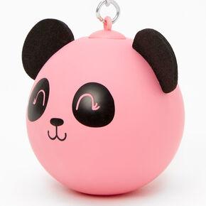 Porte-clés balle anti-stress panda - Rose,