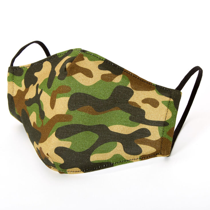 Cotton Camo Print Face Mask - Adult,